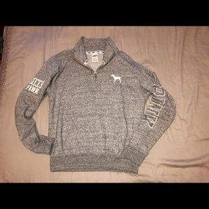 "Victoria's Secret PINK 3/4"" zip-up pullover"